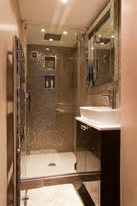 Shower Room Tiny Shower Room Glass Mosaic Walls Master Bath