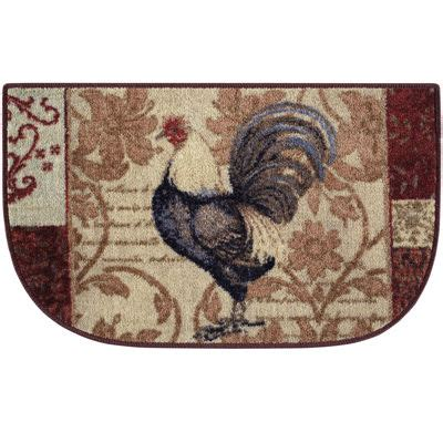 Damask Kitchen Rug Rooster Damask Wedge Rug