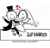 Vectors Illustration Of Wedding Invite Funny  Bridal