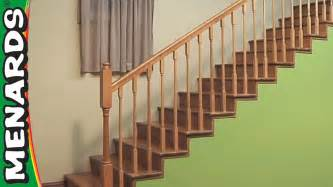 banister railing installation installing stair rails menards