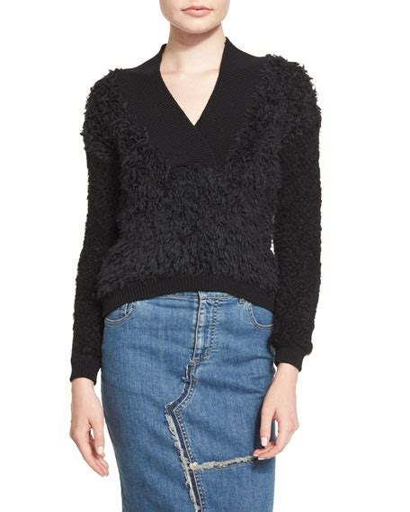 rug sweater tom ford boxy rag rug sweater black