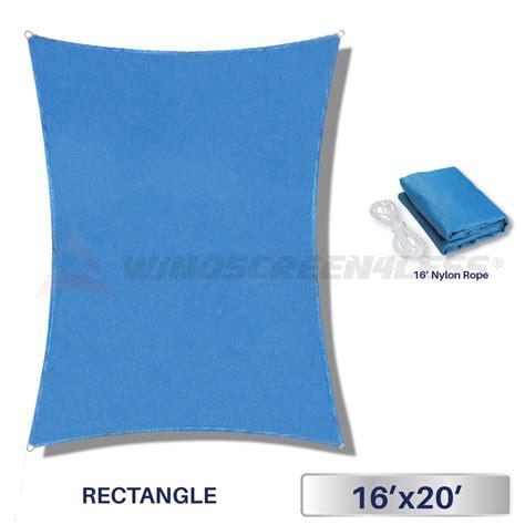 16' x 20' Rectangle Sun Shade Sail Fabric Outdoor Canopy
