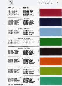 Porsche Code Original Colour Codes For Your 911 Butzi Squared