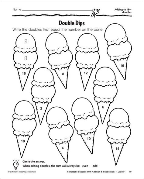 near doubles colouring pages classroom