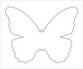 Butterfly Outline Printable by Sle Butterfly 9 Documents In Pdf