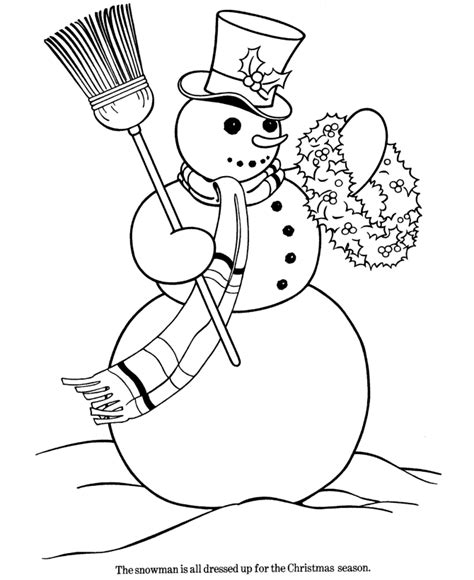 bluebonkers christmas theme coloring pages 1