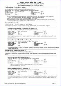 Nursing Resume Exles 2012 by Nursing Resume 5 Resume Cv