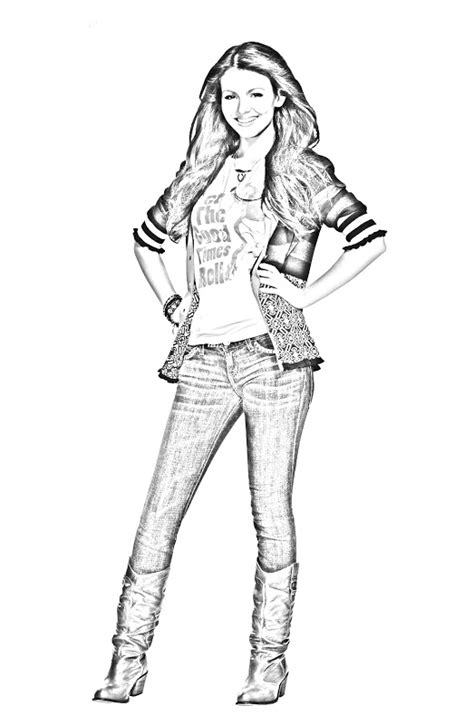 victorious coloring pages printables pages for kids