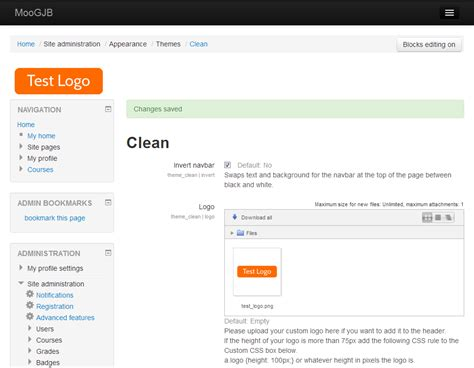 themes moodle 2 8 moodle in english how to modify the clean theme using