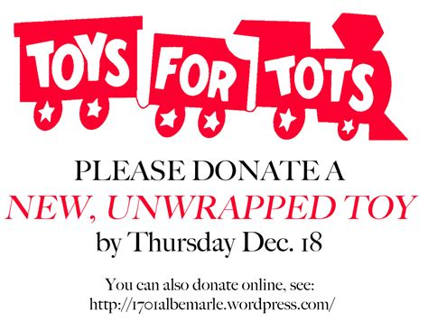 Community Events 1701 Albemarle Road Toys For Tots Email Template