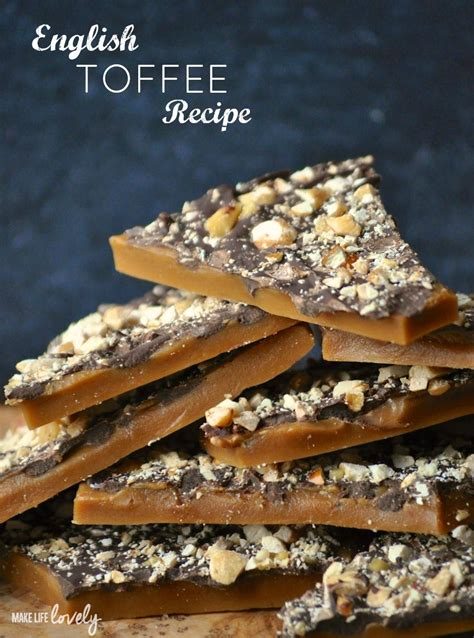 Handmade Toffee - toffee recipe make lovely