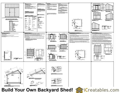 Free Shed Plans 10x10 by 10x10 Salt Box Shed Plans Saltbox Storage Shed