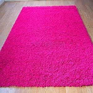yazz plain pink shaggy pile rugs 80x150cm cheap