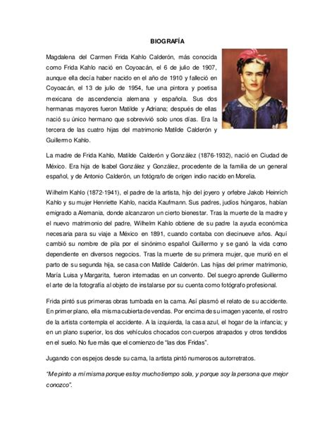 biography en ingles de frida kahlo biografia de frida kahlo