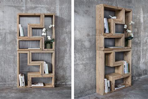 modelli di librerie in legno libreria modulare in legno vecchio di recupero patchwork
