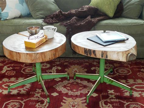 tables made from logs how to an upcycled table from log and a chair
