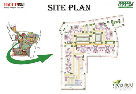 layout plan of ansal api lucknow greenfield residencia lucknow uttar pradesh india housing
