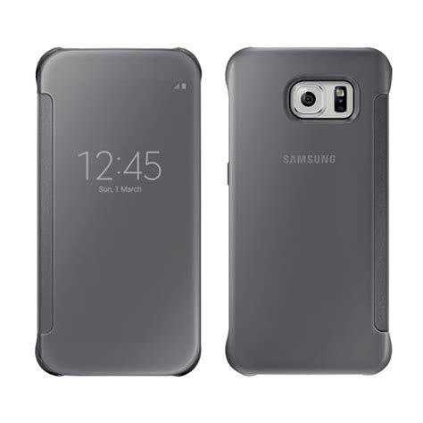 S6 Edge Mirror Cover Flip For Samsung Galaxy S6 Edge clearview mirror flip smart cover for samsung galaxy s6 s6 edge s5 note 4 ebay
