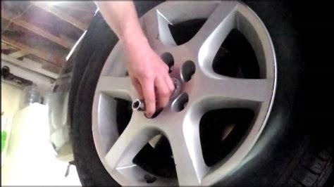 diy wheel lock removal with no key nissan altima