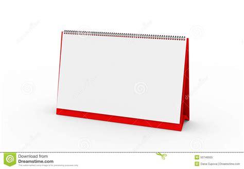 Calendar Render Standing Blank Calendar On White Background Stock