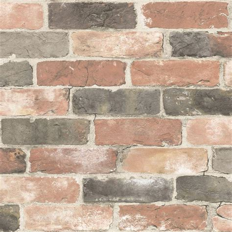 nuwallpaper red newport reclaimed brick peel  stick