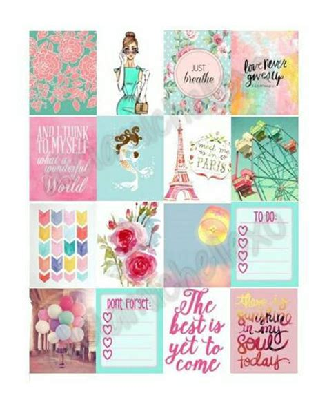 free printable stickers for erin condren life planner erin condren pastel themed planner stickers by