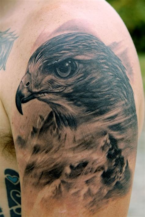black and grey hawk tattoo 11 hawk tattoo images pictures and ideas