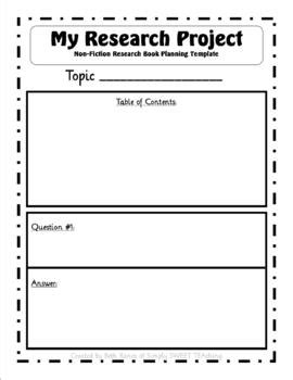 non fiction research project q a book template by beth
