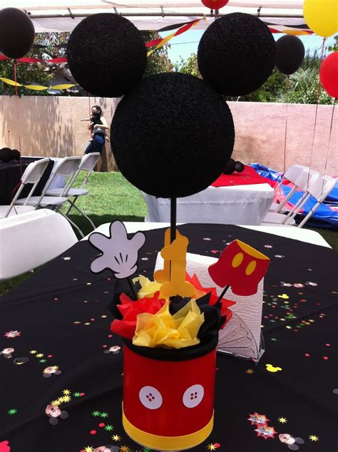 Mickey Mouse Centerpiece Mickey Mouse Birthday Party Centerpieces For Mickey Mouse Birthday