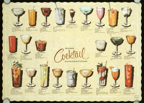 Index Vintage Cocktail Placemats On Pinterest Vintage