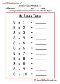 8 times table worksheet new calendar template site