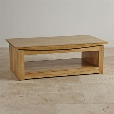 Tokyo Natural Solid Oak Large Coffee Table By Oak Solid Oak Coffee Tables