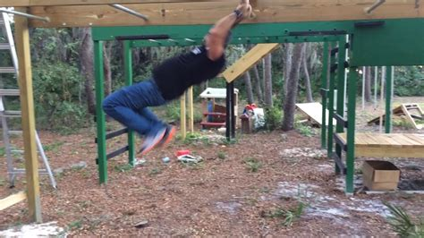 backyard ninja warrior course monkey bars on our backyard ninja warrior course anw