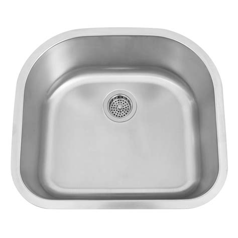 d shaped undermount stainless steel sink 23 quot infinite wide d shaped stainless steel undermount sink