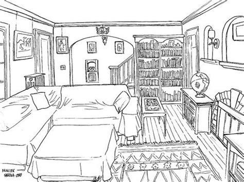 room sketch living room sketch ink by wisp via flickr perspective