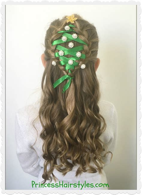 christmas tree hairstyle for girls tree hairstyle hairstyles for princess hairstyles