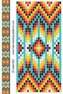 native american bead loom pattern