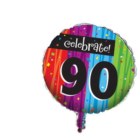 90th birthday milestone balloon