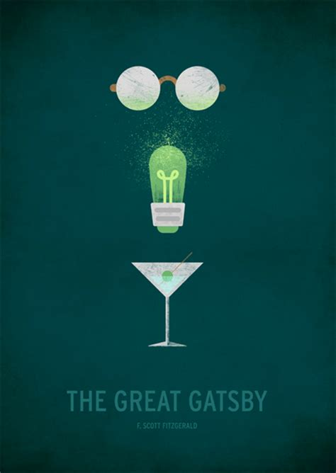 symbols in the great gatsby articles classic books illustrated with a minimalist twist books