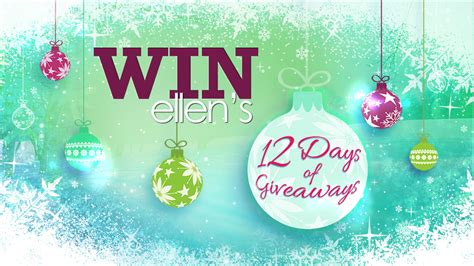 What Is Ellen S 12 Days Of Giveaways - ellens 12 days of giveaways