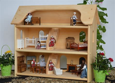 Handcrafted Dollhouse - handcrafted wooden by atoymakersdaughter on etsy