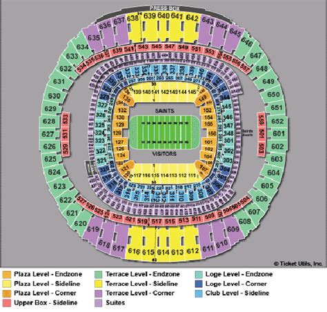 saints superdome seating map new orleans saints seating chart new orleans saints vs