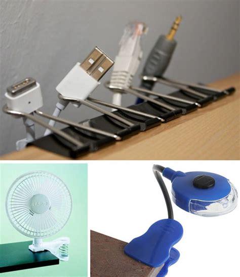 forget fans lights clip on desk vases cord sorters
