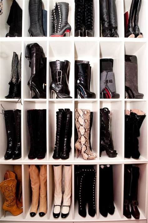 shoe boot storage boot rack ideas contemporary closet the coveteur