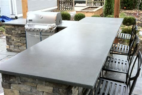 outdoor concrete bar top outdoor countertops truecrete