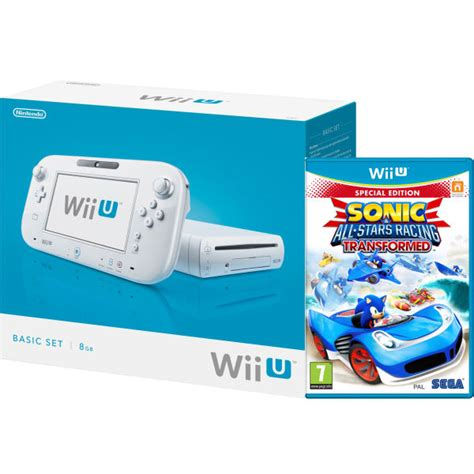 wii u white console wii u console 8gb basic pack white includes sonic and