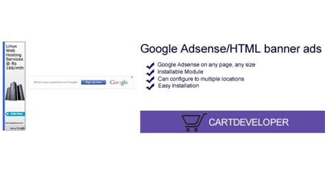 adsense for shopping opencart google adsense html banner ads opencart