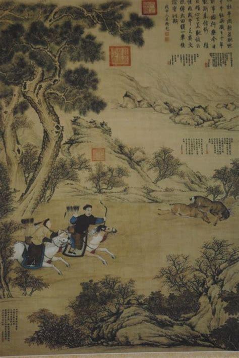 Peinture Sur Papier by Grande Sc 232 Ne Chinoise Peinture Sur Papier De Soie