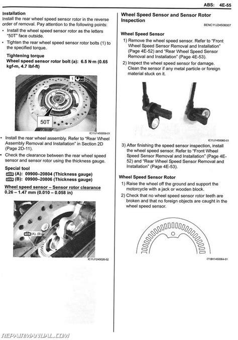 Suzuki Service Parts 2012 2015 Suzuki Dl650a Motorcycle Service Manual