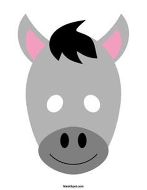 donkey mask templates including  coloring page version